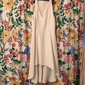 RACHEL Rachel Roy Hi-Low Beige Dress